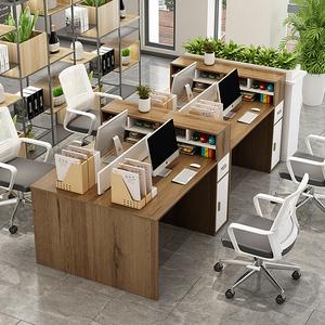 财务办公桌椅组合办工作桌办公室桌子双人屏风职员办工桌家具工位