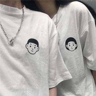 網紅ins超火情侶短袖T恤女夏裝韓版潮原宿學生蹦迪寬鬆半袖上衣服