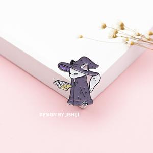 可爱 猫咪巫师 胸针 文艺 日系 少女 徽章 衣服包包衬衫配饰 别针