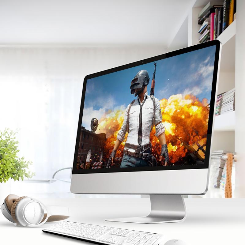 高配一体机电脑台式主机全套整机i7办公家用网吧游戏型吃鸡27英寸