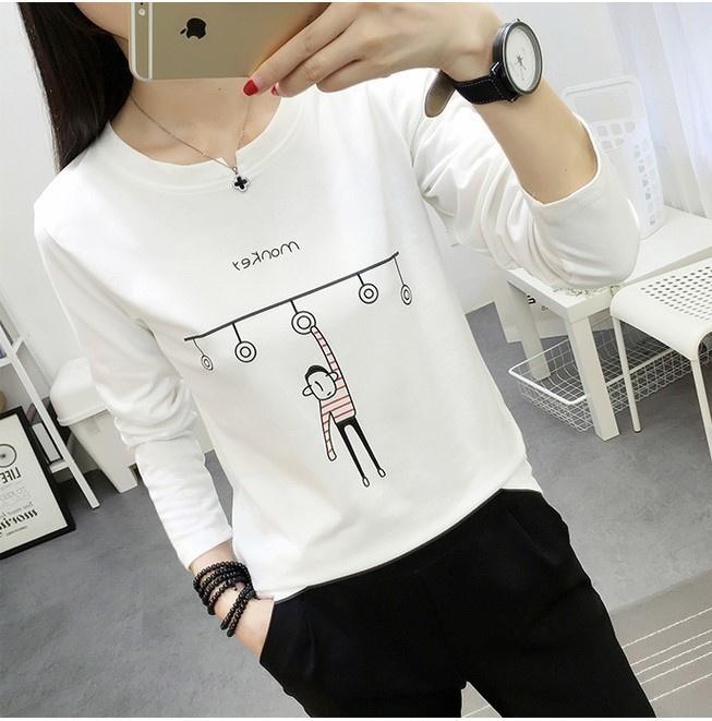 春秋季韩版修身长袖T恤10元以下女装秋衣9.9元包邮便宜薄款打底衫