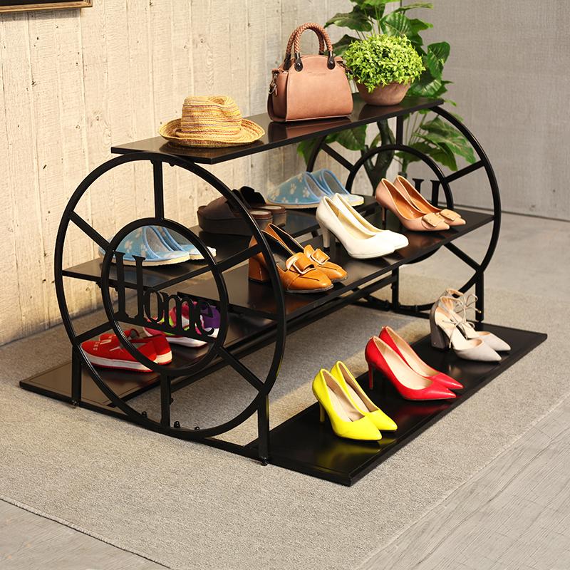 热销2件需要用券服装店车轮流水台高低展示架欧式落地装饰鞋包架创意中岛挂衣架
