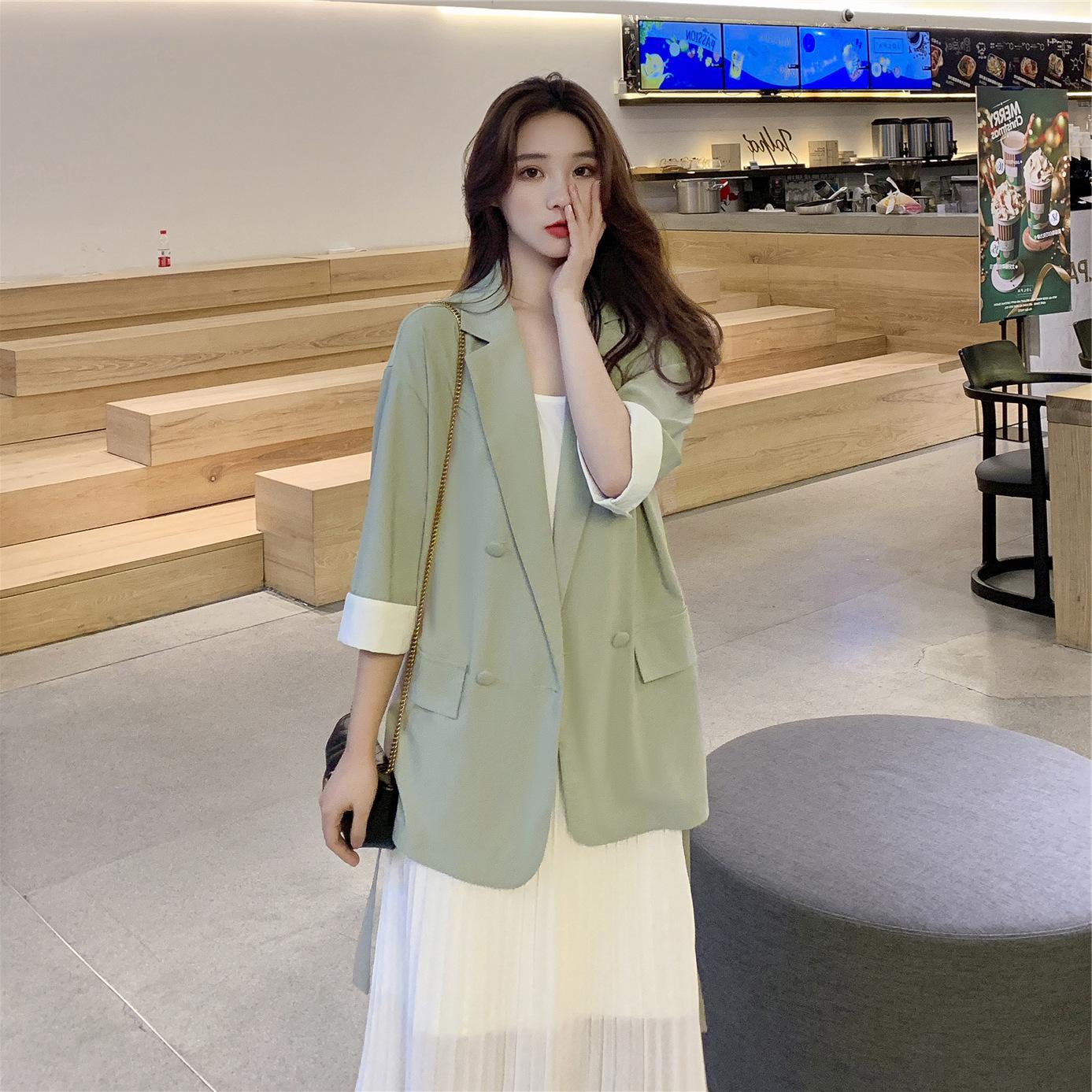 新品套装女2020新款夏装很仙的西装裙子两件套时髦洋气吊带连衣裙