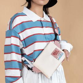 NULL原创斜挎小包女轻巧百搭学生胸包休闲运动风个性黑色手机包