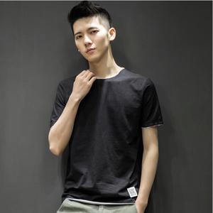2019新款男士短袖t恤圓領丅半袖個性韓版潮流夏季男裝修身上衣服