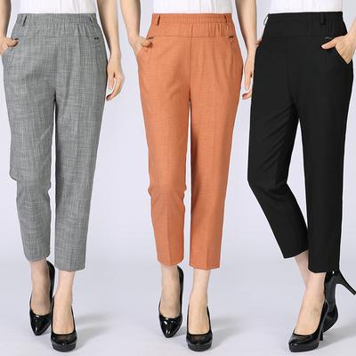 中年人中裤40-50-60岁中老年妇女装夏装7分裤子妈妈装八分库短裤