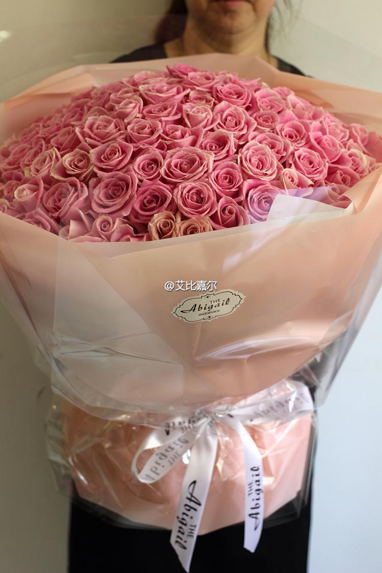 大连同城鲜花速递 本地鲜花店 进口玫瑰花束 艾比嘉尔出品