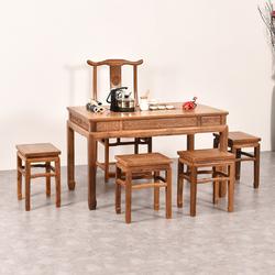 鸡翅木茶几实木简约红木功夫茶桌椅组合中式茶艺桌仿古泡茶桌茶台