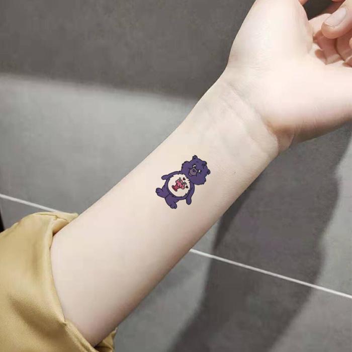 喵小姐纹身贴2019新款彩虹可爱小熊满2.00元可用0.1元优惠券