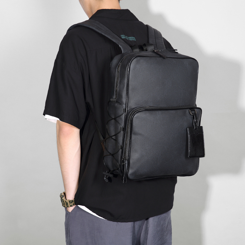 Backpack men trend ins fashion business leisure large capacity multi-functional computer backpack student bag trend brand