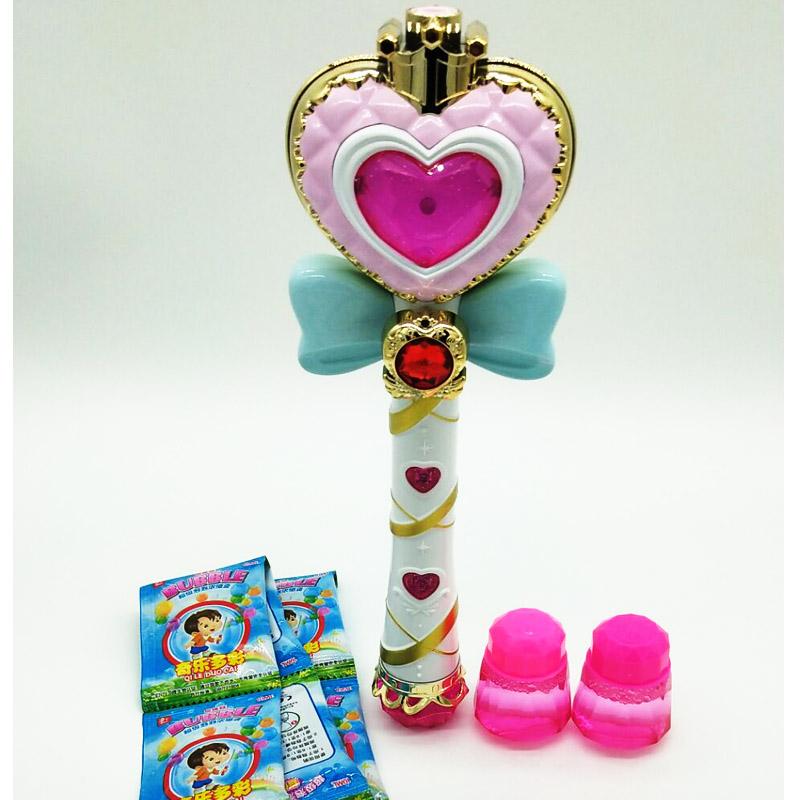 魔法泡泡棒电动带音乐魔法棒玩具泡泡仙女棒泡泡枪不漏水吹泡泡机