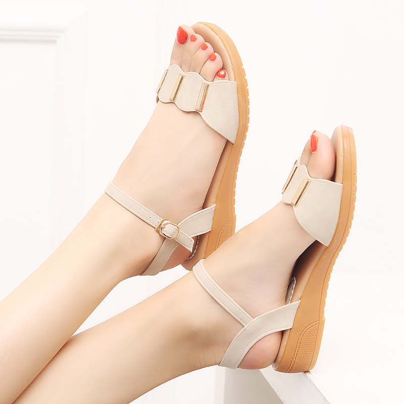 Flat sandals womens summer 2021 new flat heel pregnant womens shoes