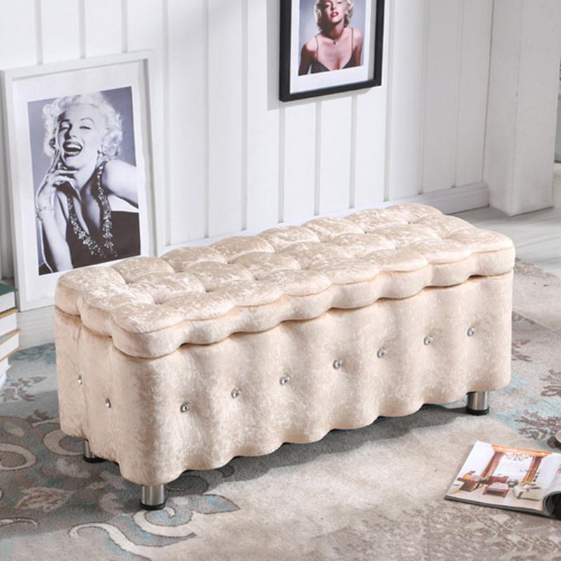 北欧长方形家用储物服装店沙发凳子