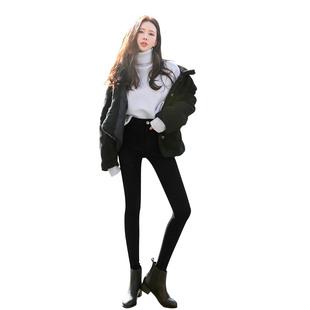 打底褲女外穿薄款2020春秋新款百搭顯瘦小腳黑褲高腰黑色鉛筆魔術