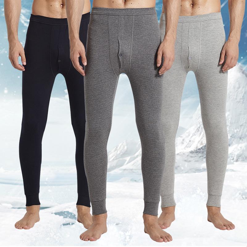 Осенние брюки одиночный разряд модель в молодежь студент блокировка осень и зима хлопок полный хлопок тонкий поддержка подкладка брюки тонкая модель теплые брюки