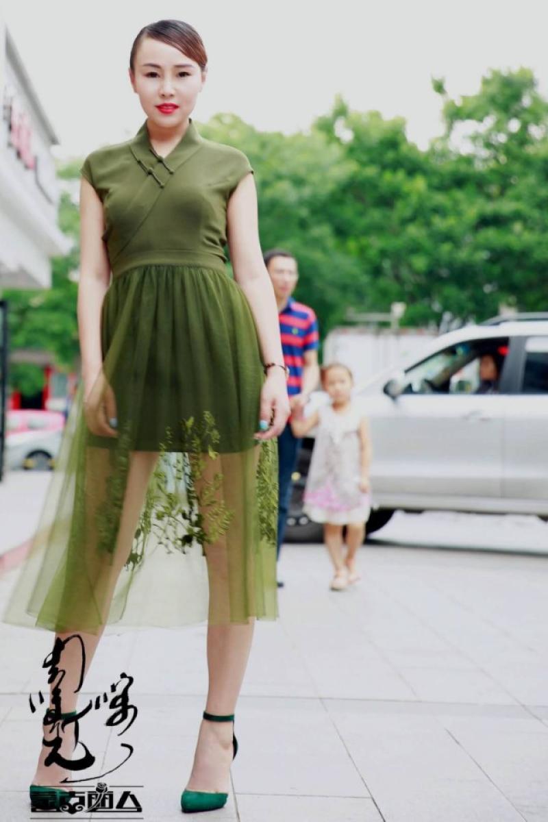 安静的小丸子蒙古丽人时尚女装网纱套装裙两件套蒙古风民族元素