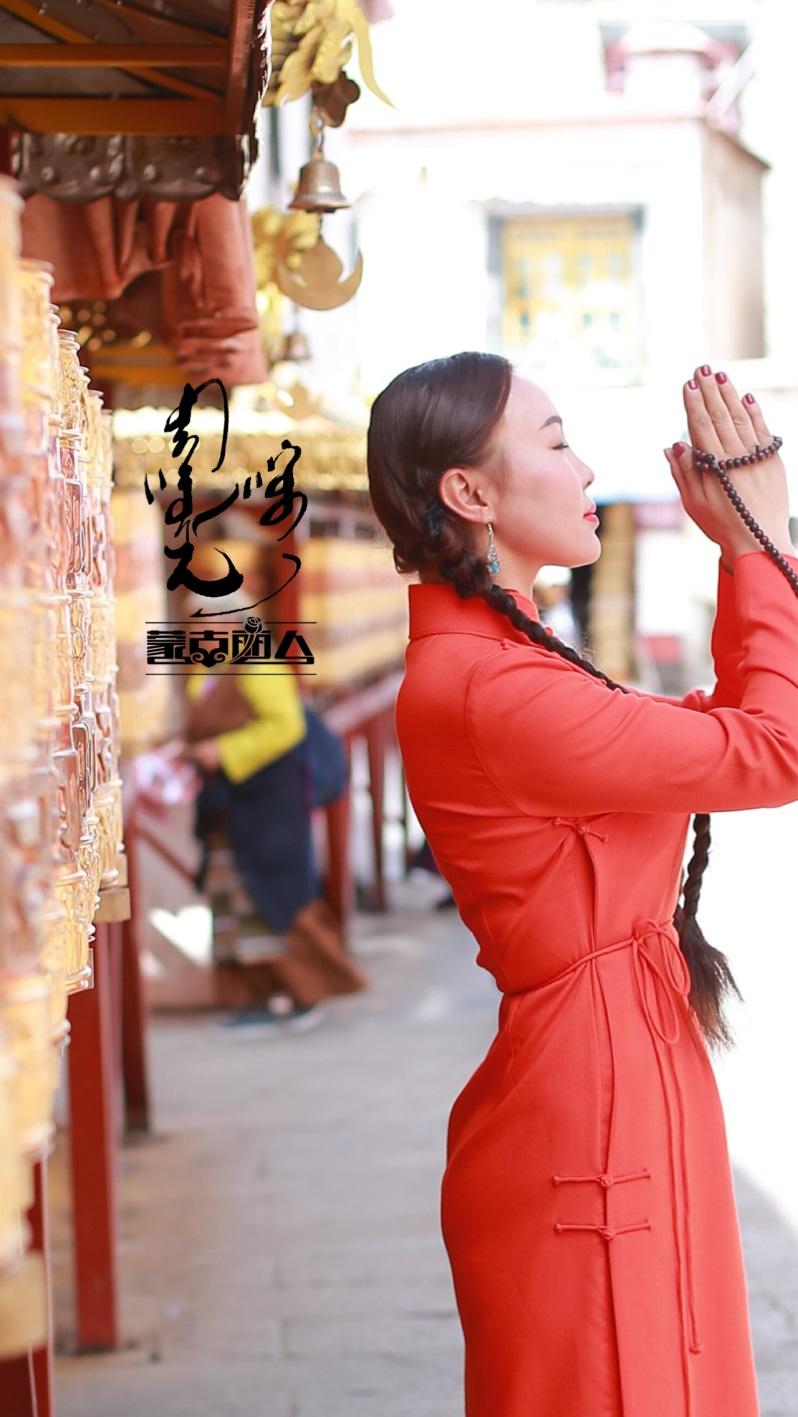 安静的小丸子蒙古丽人女装连衣裙亚麻传统袍子简洁蒙古元素民族风
