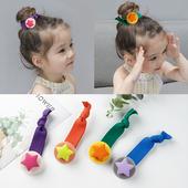 儿童头绳糖果色磨砂星星发圈韩国可爱宝宝扎头发绳女童不伤发皮筋