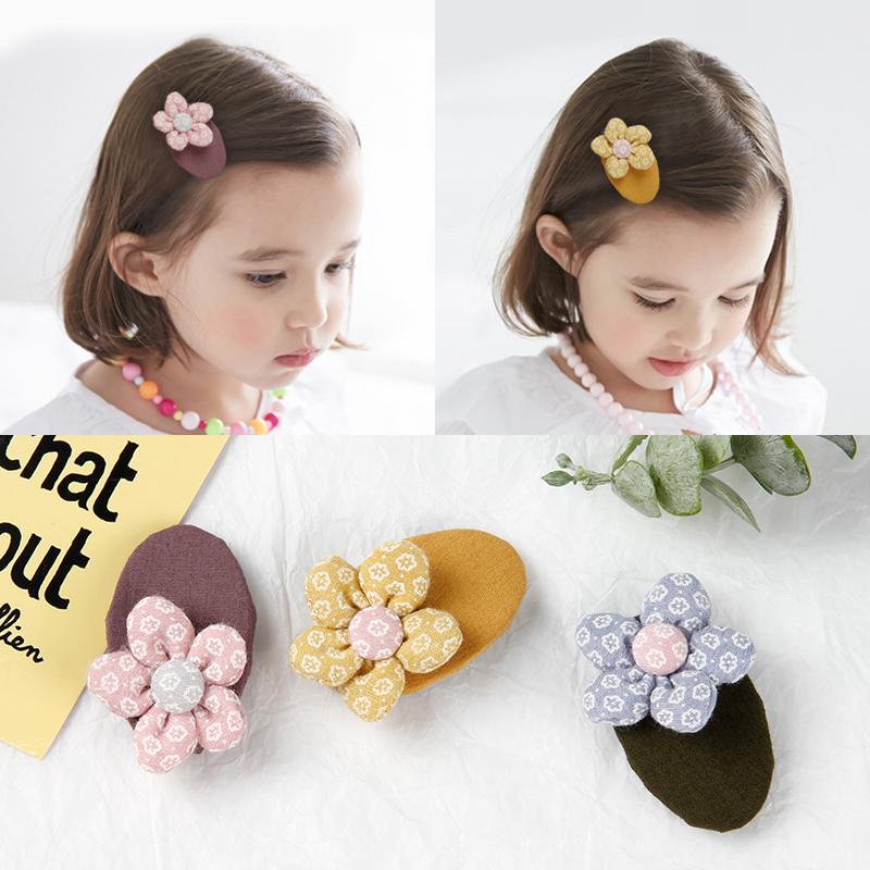 韩国进口布艺碎花朵宝宝可爱bb夹限100000张券