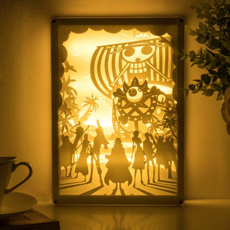 海贼海盗王手办路飞索隆艾斯摆件手工DIY周边动漫纸雕灯生日礼物