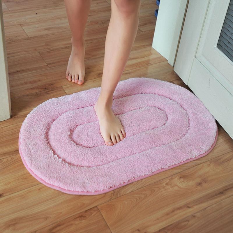浴室门口防滑毯吸水门口驼色水粉紫色地毯厨房垫柔软细绒吸水地垫