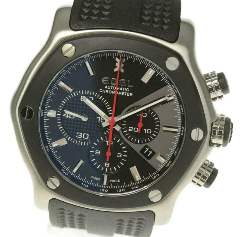 EBEL玉宝男表男士手表自动机械137L83计时二手表瑞士原装正品98新