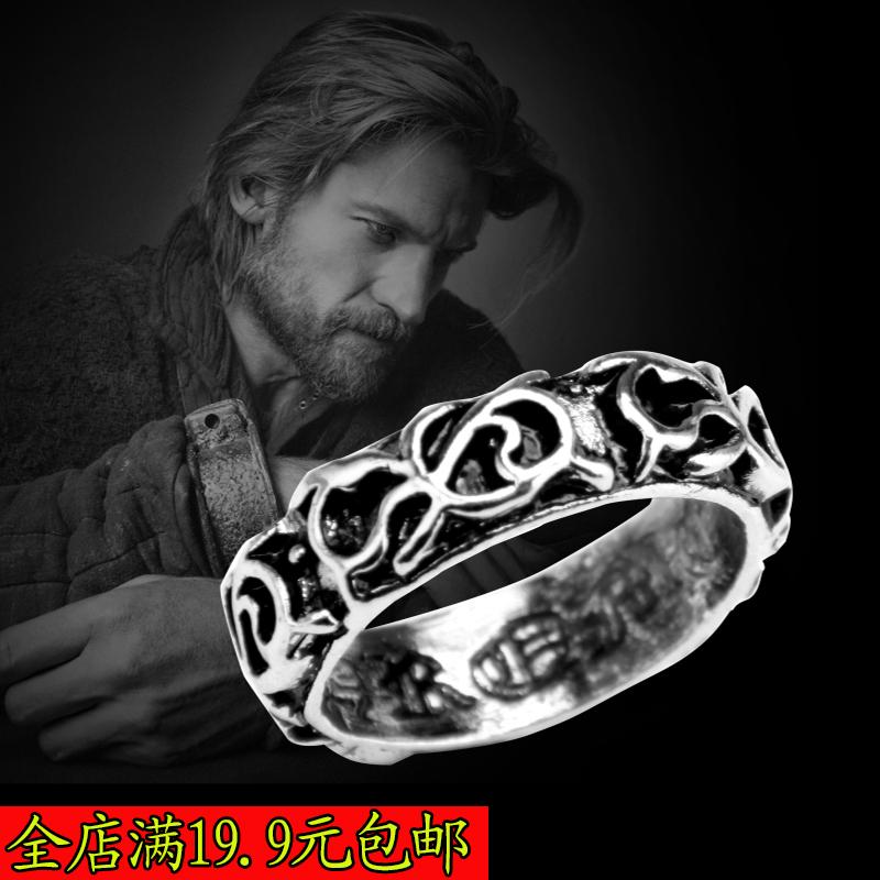 罗马圣经戒指男韩版钛钢指环戒子个性男生戒 单身戒指 男