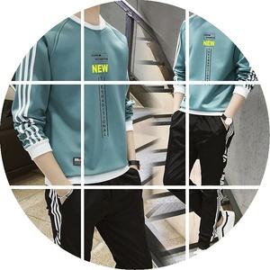 男生休闲套装2019新款初中高中学生韩版潮流卫衣一套搭配帅气男装