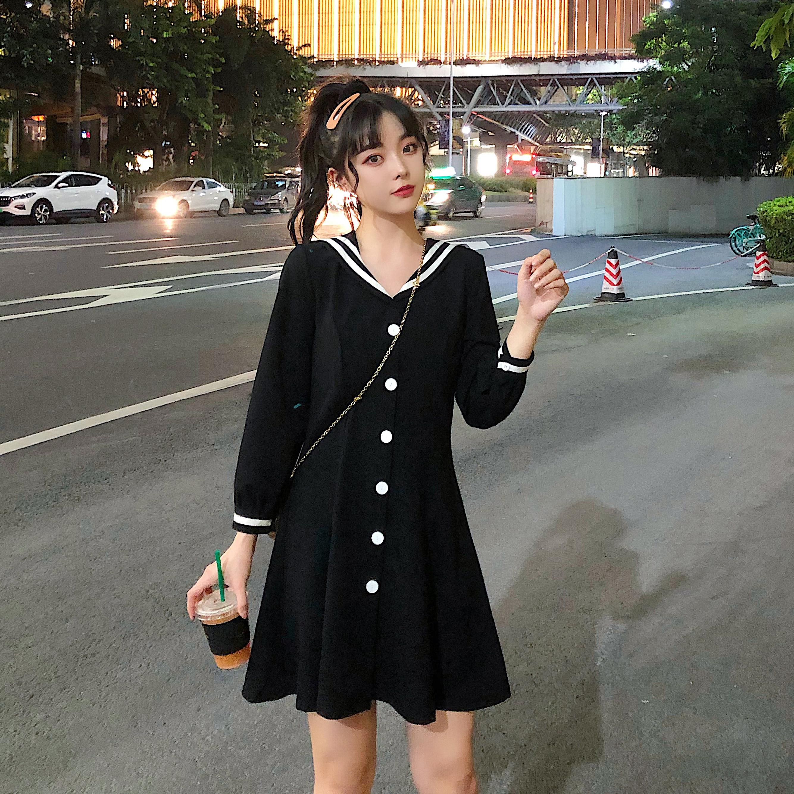 大码女装2019秋季遮肚子减龄连衣裙10-18新券