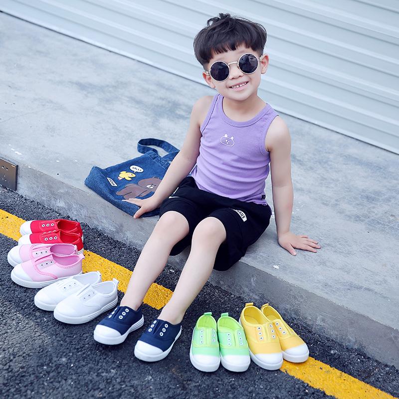 2018韩版新款单鞋板鞋帆布鞋女童布鞋童鞋宝宝鞋子公主鞋小白鞋潮