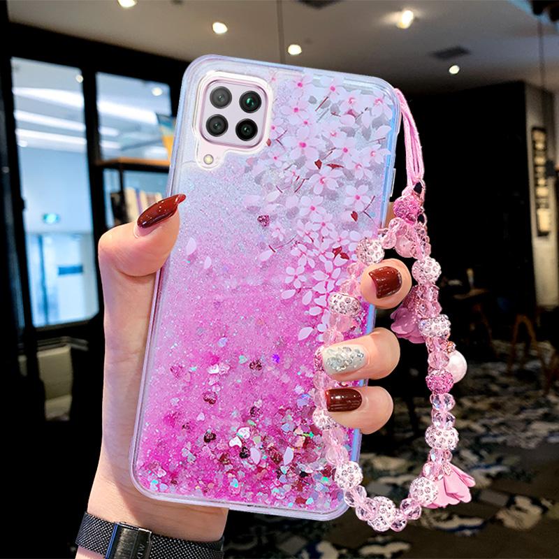 适用于 华为nova6se手机壳nova6全包防摔华为p40lite硅胶液体流沙