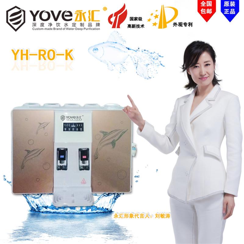 台式永汇净水器品牌纯水机农村可用冷热一体RO反渗透直饮机
