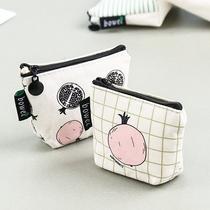 韩版零钱包零钱袋女迷你创意拉链小清新钥匙包卡通可爱硬钱包布艺