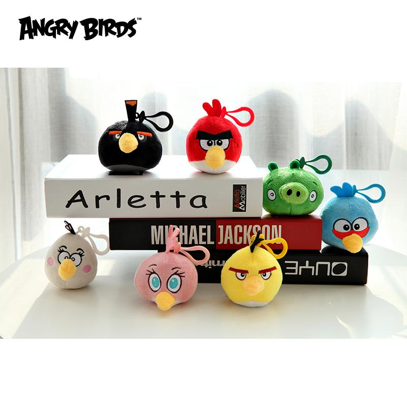 憤怒的小鳥2.5寸卡通帶掛鉤毛絨掛件娃娃掛件公仔兒童動漫玩具