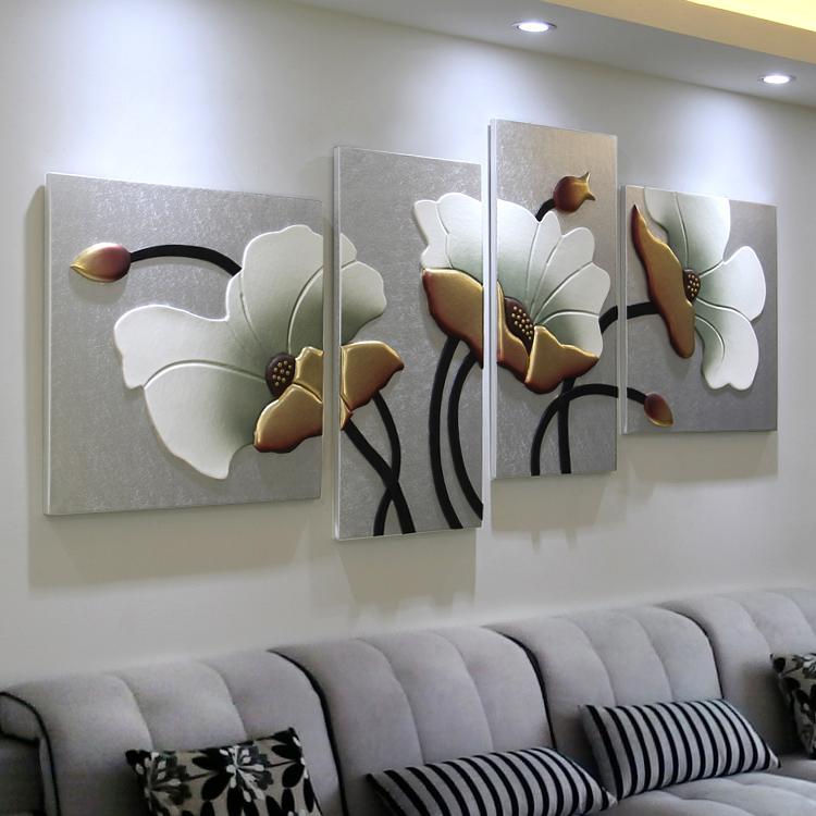Гостиная диван фон стена декоративный живопись трехмерный рельеф живопись магазин спальня без рамы картину современный простой фреска картины