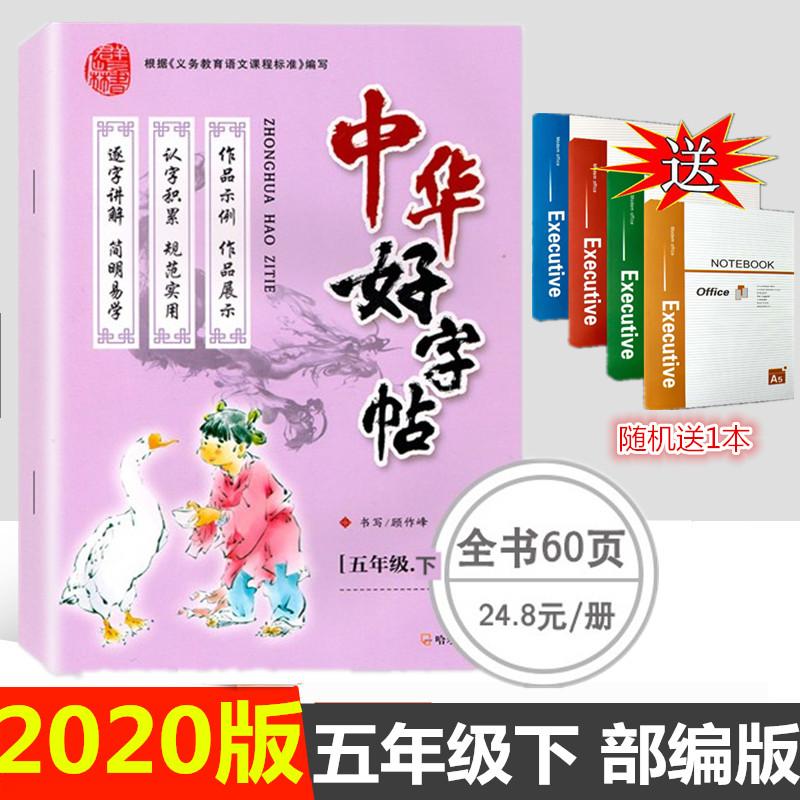 2020版中华好字帖五年级下册人教版