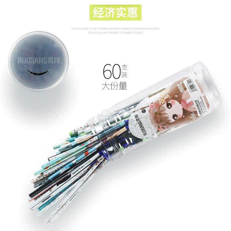 芮翔60支大容量可擦笔芯黑色晶蓝色0.5 小学生魔摩檫易擦笔芯包邮