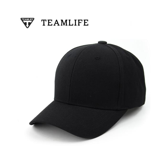 韩国teamlife代购男女纯色鸭舌帽