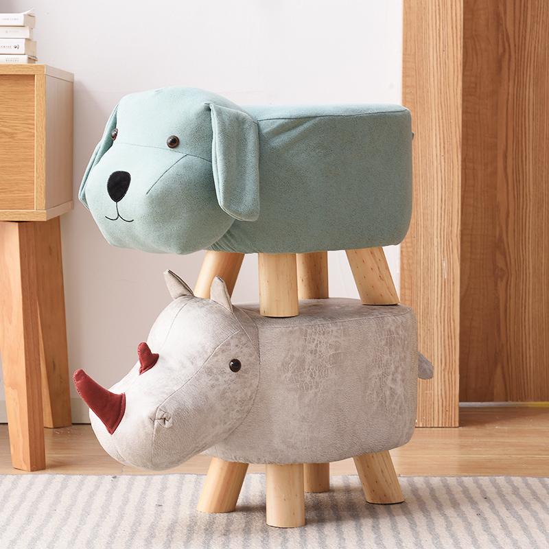 儿童实木矮凳大象换鞋凳家用矮凳穿鞋凳时尚创意板凳卡通动物凳子