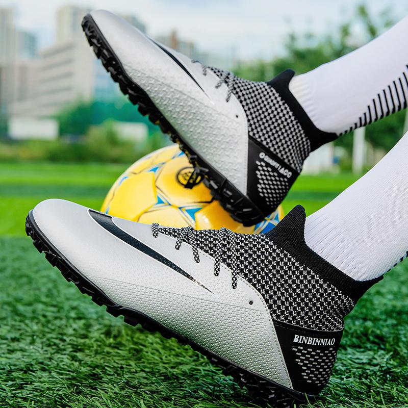 C罗刺K客足球鞋碎钉男女青少年学生人草成人AG长钉足球训练运动鞋
