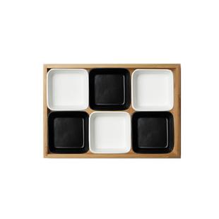 分格小水果零食盤子創意個性家用陶瓷可愛糖果乾果盤子套裝北歐碟