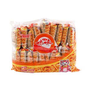 爱尚咪咪虾条18g*20包好吃膨化零食大礼包网红休闲食品品牌