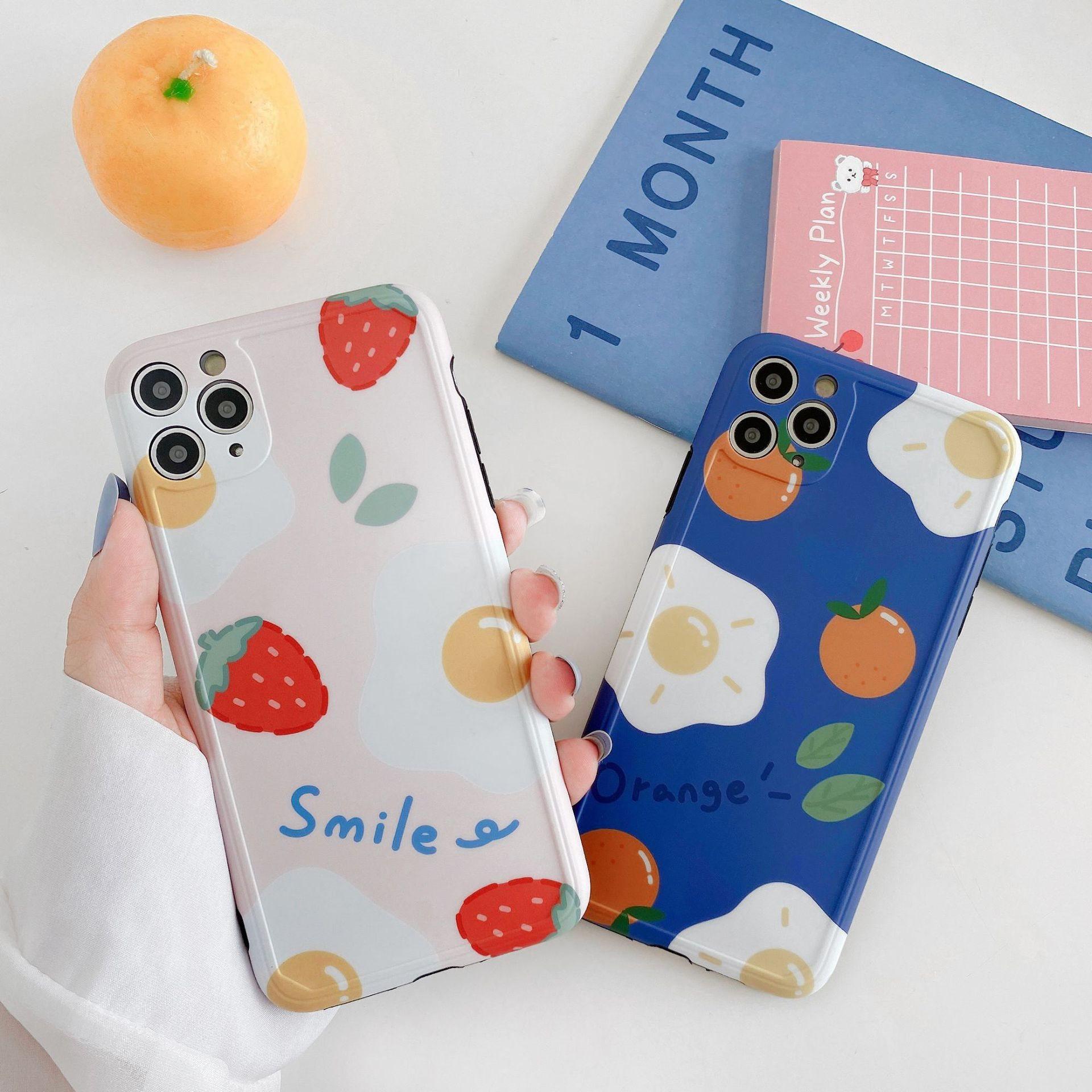 水果荷包蛋11Pro/Max苹果X/XS/XR适用手机壳iPhone7p/8plus超薄软