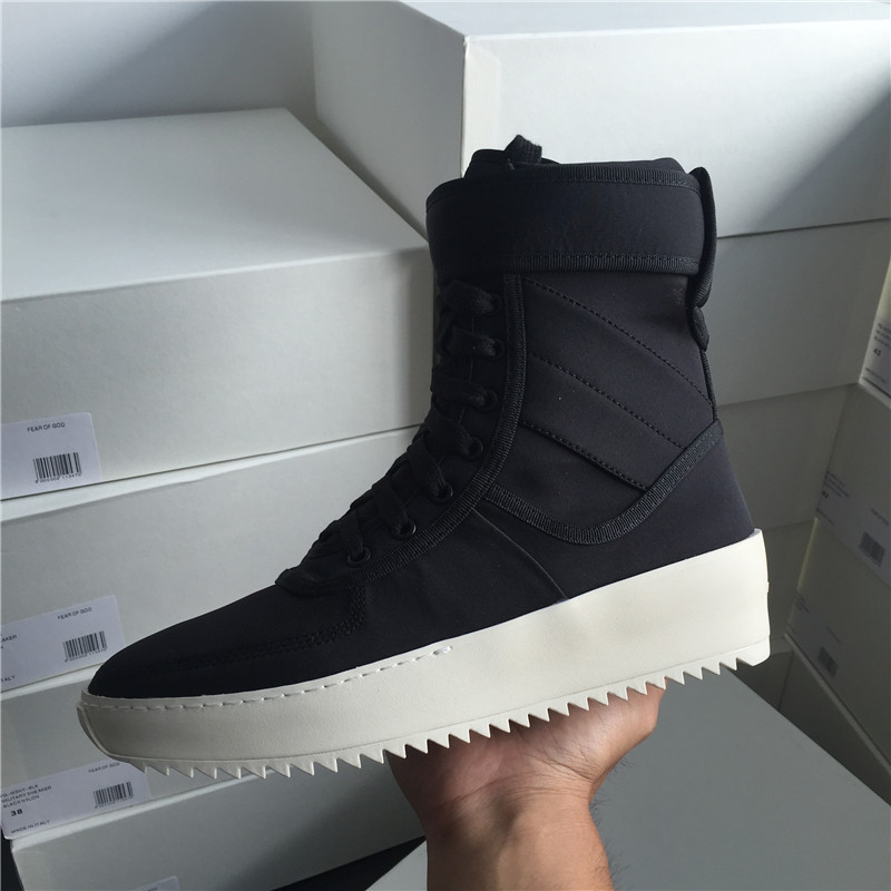 Martin boots mens winter breathable thick soled high top shoes casual zipper mens short boots fog Velcro high top shoes