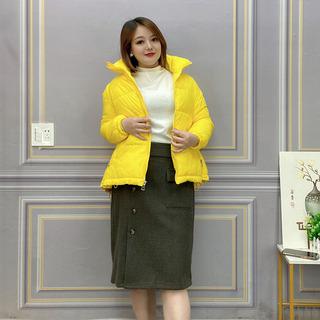 大码女装冬季羽绒棉服2021新款棉衣韩版宽松短款时尚棉袄保暖外套