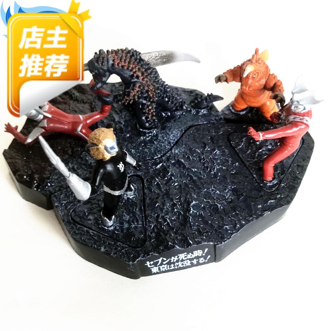 万代人气怪兽名鉴戏画场景同款雷欧奥特曼孪生怪兽整套玩具现货