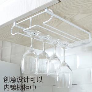 红酒杯架倒挂 创意家用沥水高脚杯架 日式葡萄酒杯架悬挂酒柜摆件