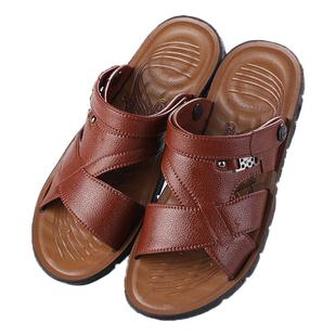 2020夏季爆款男士越南沙滩凉鞋软底防滑日常休闲厚底透气两用凉拖