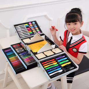 儿童画笔套装礼盒美术用品绘画水彩笔蜡笔画画生日创意小学生礼物