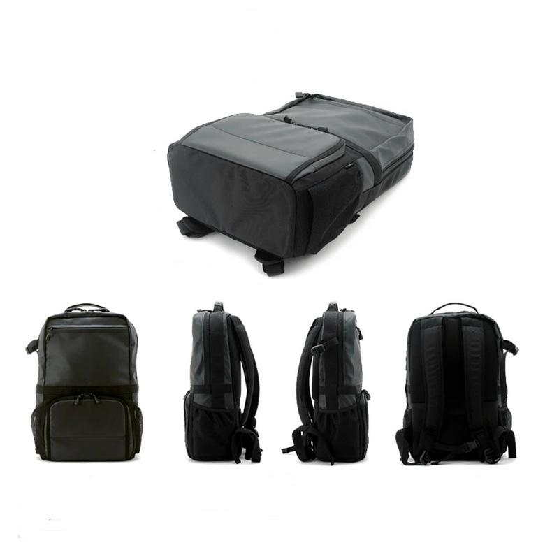 日本 NOMADIC男士休闲时尚旅游登山夹层尼龙防水相机双肩背包黑色